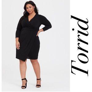 Torrid Black Drape Dress size 3
